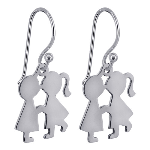 Kissing Boy and Girl Drop Earrings