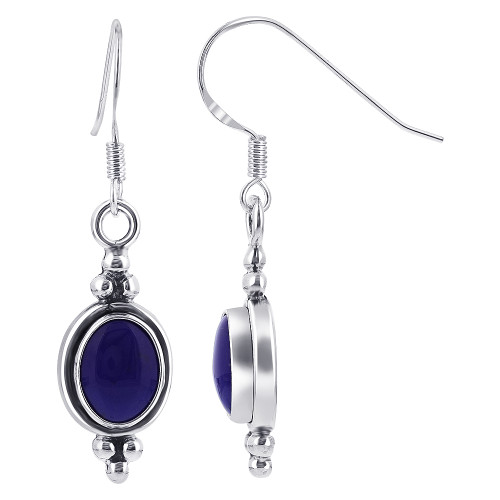 Lapis Lazuli Gemstone Drop Earrings