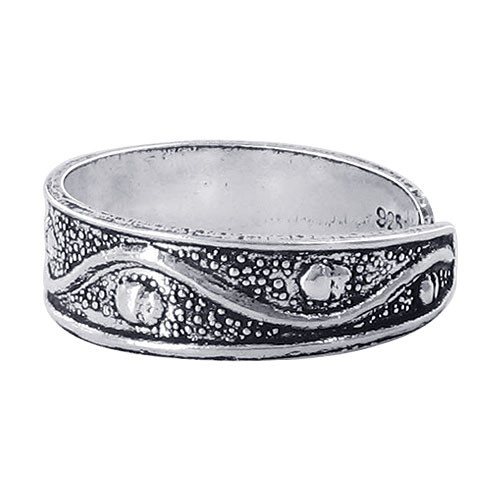 Wave and Dot design Toe Ring