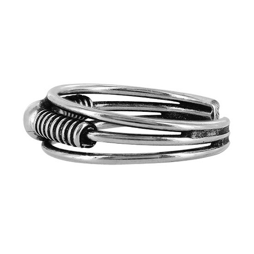 925 Sterling Silver Round Ball Toe Ring #PSTS002