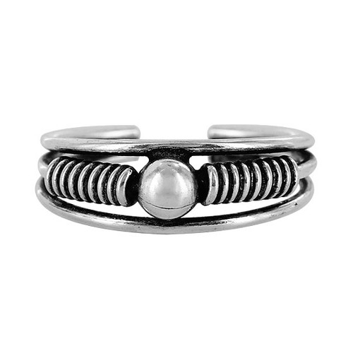 925 Sterling Silver Round Ball Toe Ring for Women