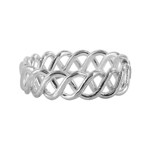925 Sterling Silver Wavy Design Toe Ring for Women