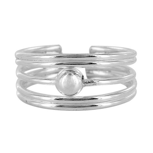 925 Sterling Silver Five wire Design with 4mm Ball Toe Ring for Women #PSTS005