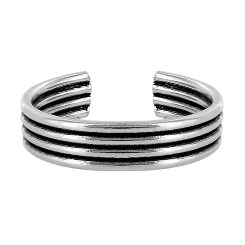 925 Sterling Silver Four Wire Design Toe Ring for Women