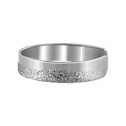 925 Sterling Silver Shiny and Silver Dust Texture Toe Ring #T001