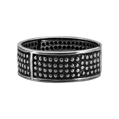 Sterling Silver Oxidized Dotted Toe Ring