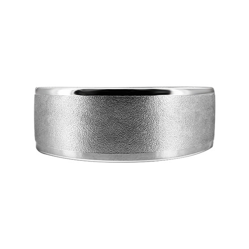 925 Sterling Silver Sandblasted with Shiny Toe Ring for Women
