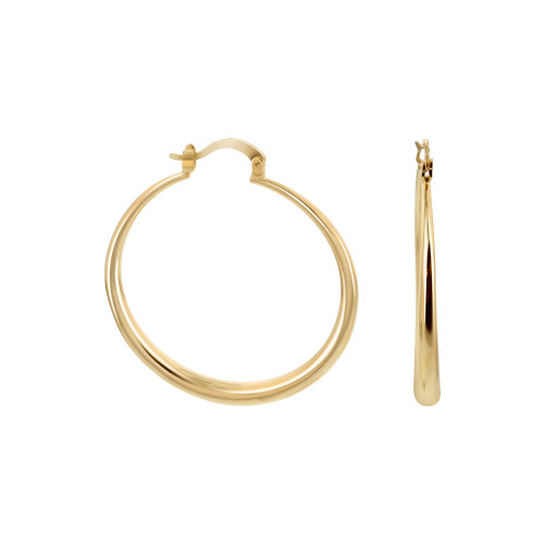 18k Gold Layered Hoop Earrings (39.5 Diameter)