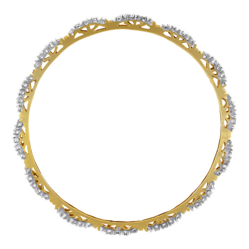 Bollywood Indian Gold Plated Clear Stones Ethnic Bangle Bracelets