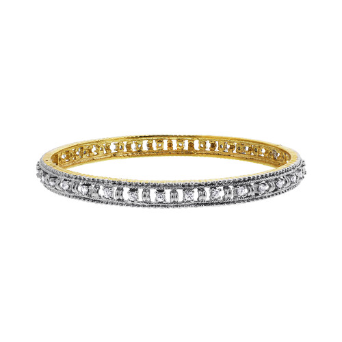 Clear Cubic Zirconia Bollywood Indian Bangle Bracelet