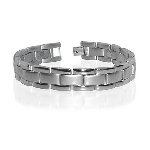 Quality Magnetic Mens 0.5 inch Wide Therapy Bracelet with Fold over Clasps
