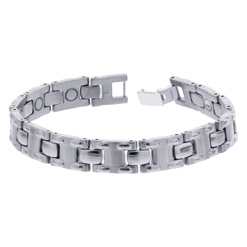 Stainless Steel Surgical Magnetic Golf Therapy Bracelet 8.5 inch