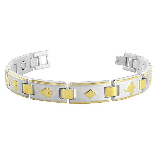 Magnetic Link Therapy Bracelet with Fold over Clasp