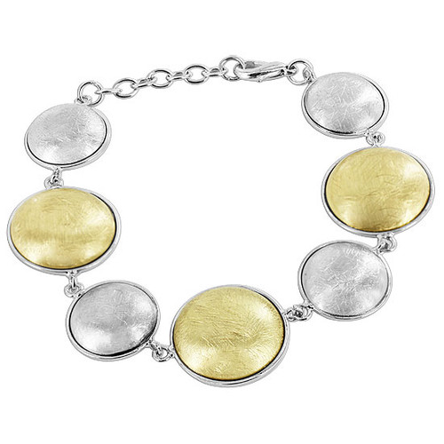 Gold and Silver Plated link Bracelet