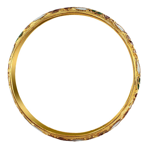 10mm wide Gold Tone Fashion Bangle Bracelet Size #SBBF035