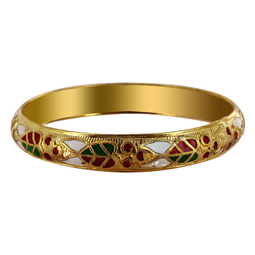 10mm wide Gold Tone Fashion Bangle Bracelet Size