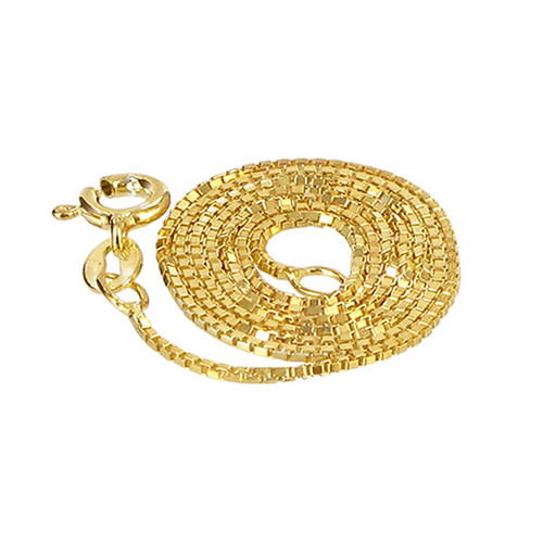 14k Gold Over Sterling Silver Vermeil Box Chain Bracelet