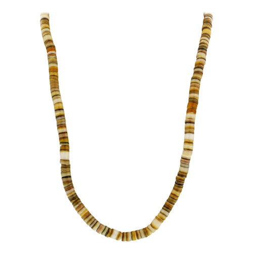 5mm wide Shell Necklace 18 Inch Long with Screw Clasp