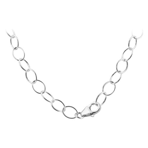 925 Sterling Silver Vitrail Color Crystal Necklace 16""