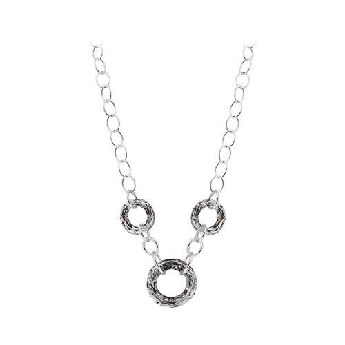 Sterling Silver Vitrail Silver Color 16 inch Crystal Necklace