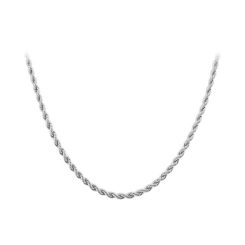 Stainless Steel 3mm wide Rope Chain Necklace