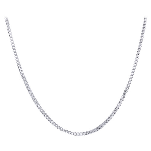 Stainless Steel 2mm wide Box Chain Necklace