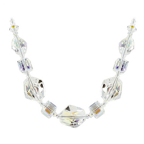 Clear AB Swarovski Crystal Necklace