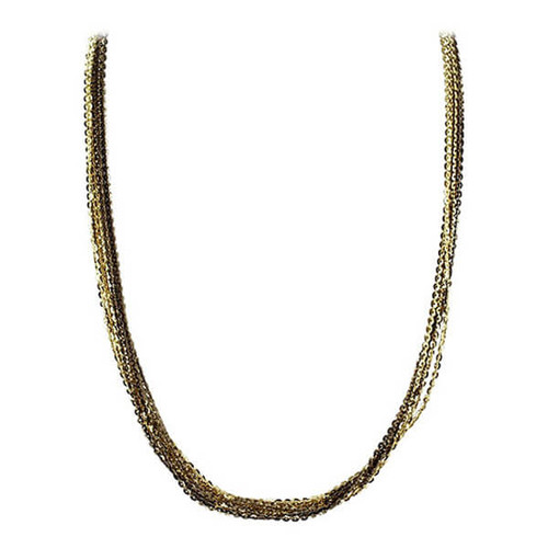 """Rhodium Plated Sterling Silver 7mm Omega Chain Necklace 17 - 19"""""""