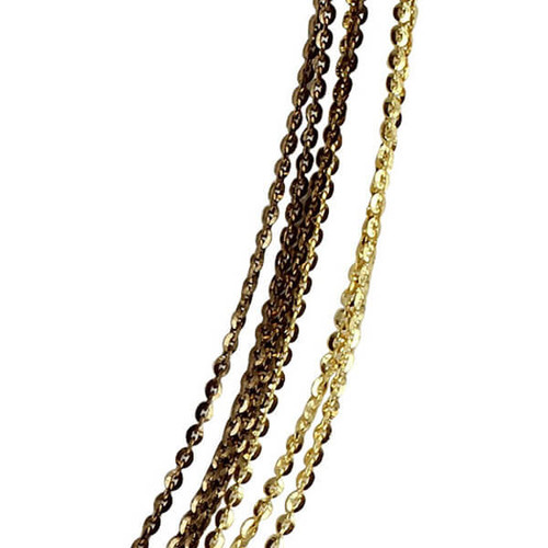 Mens Rhodium Plated Silver Omega Chain Necklace