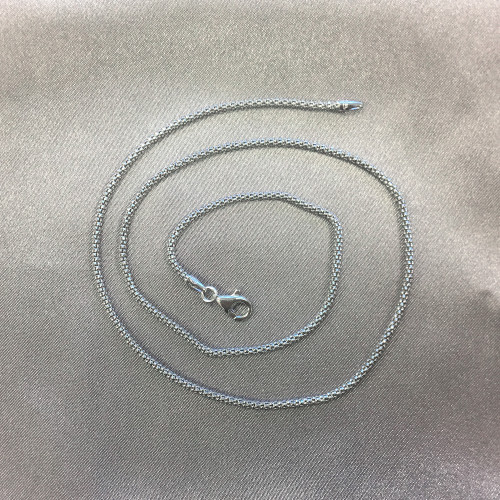 925 Silver 2.5mm Popcorn Chain Necklace #AF-PCORN250