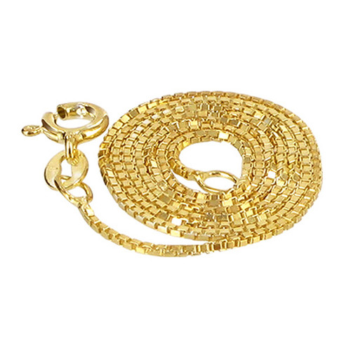 14k Gold Vermeil Box Chain Necklace