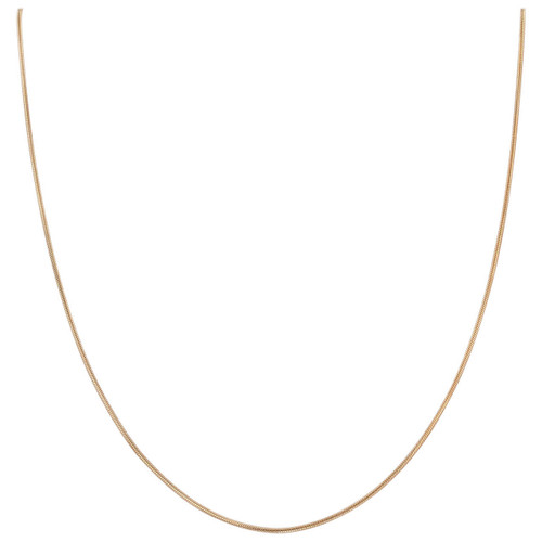 14k Rose Gold over .925 Silver 1mm Snake Chain Necklace