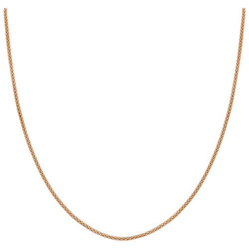 14k Gold over Silver 1.6mm Popcorn Chain Necklace