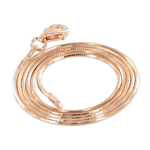 14k Rose Gold Vermeil Snake Chain Necklace