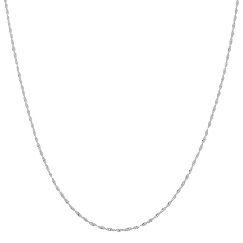 Italian 925 Silver Winding 2mm Singapore Chain Necklace