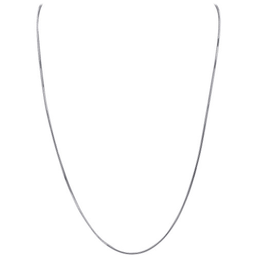 925 Silver Diamond-Cut Snake Chain Solid 1mm Necklace
