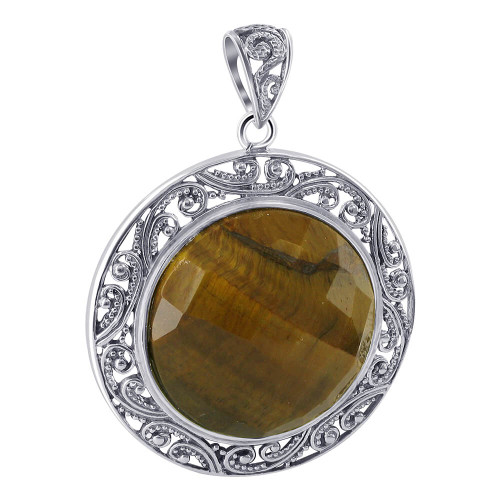 Tiger eye Earrings and Pendent set