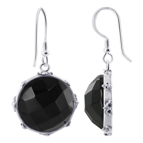Black Onyx Earrings Pedent set
