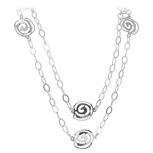 Sterling Silver Earrings and Chain Necklace Set