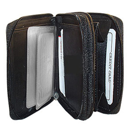 """Leather Credit Card Holder 4.75"""" x 3.75"""" Wallet Available in Different Colors #MW2522"""