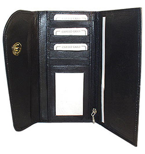 """New Genuine Cowhide Leather Checkbook 7.25"""" x 4"""" Wallet Available in Different Colors #MW302575"""