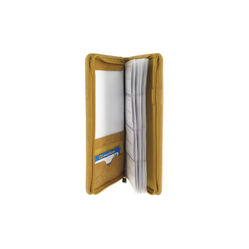 Tan Leather Business Card Holder 5 x 10 inch Wallet