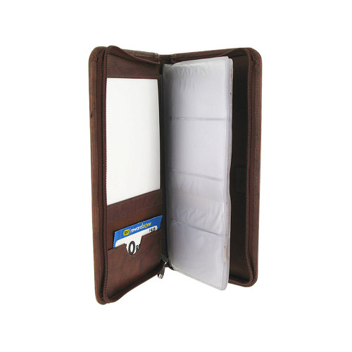 """Leather Business Card Holder 5"""" x 10"""" Wallet Available in Different Colors #MW304670"""