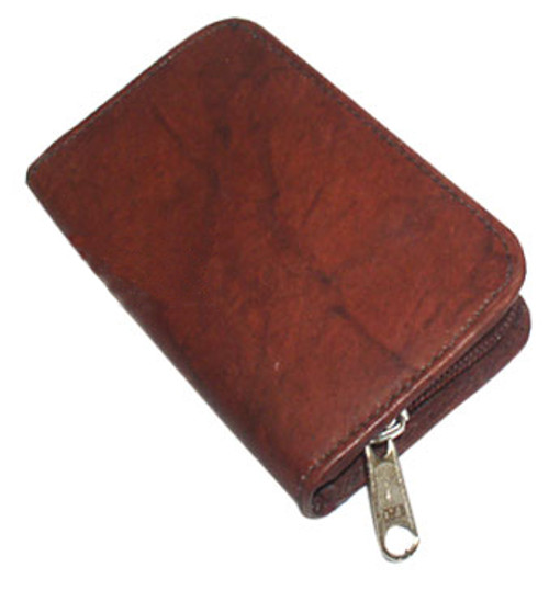 Leather Business Credit Card Holder Zipper Wallet