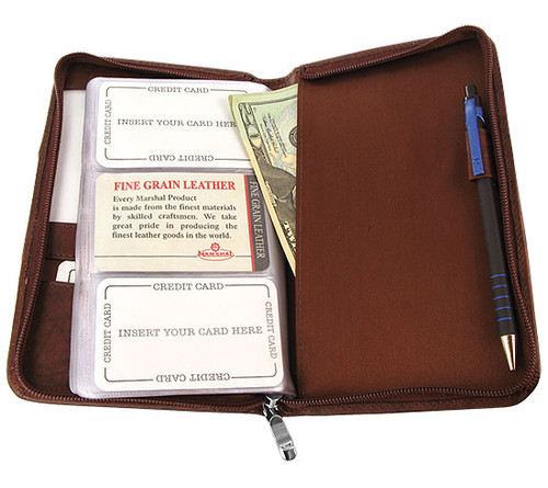 Cow Hide Leather Business Card Holder Wallet