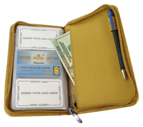 """Cowhide Leather Business Card Holder 8"""" X 5"""" Wallet Available in Different Colors #MW3670CF"""