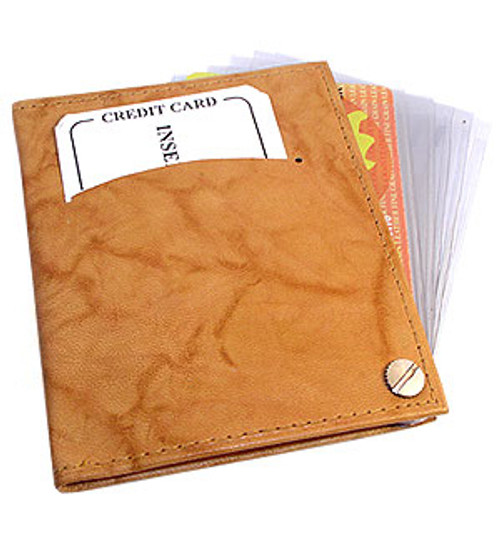 Leather Cowhide Credit Card Holder Wallet Available in Different Colors