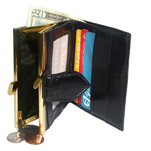 New EEL Skin Leather Organiser Money Wallet Card Holder Available in Different Colors