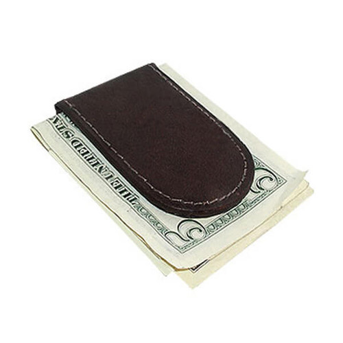 Slim Magnetic Genuine Leather Money Clip Wallet Available in Different Colors #MWSML812