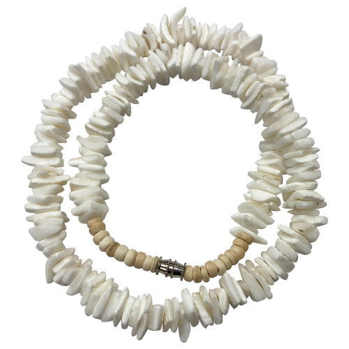 """Mother of Pearl Unisex Summer Necklace 17"""""""